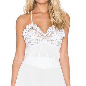 For Love & Lemons Charlie Lace Camisole Small